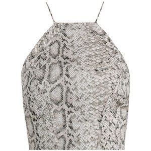 Zimmermann Essence Snakeskin Crop Top and Shorts